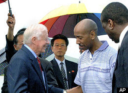 President Carter in North Korea
